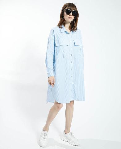 Robe chemise oversize rayée blanc - Pimkie