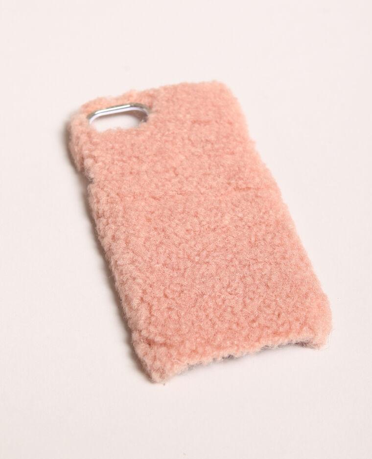 Coque iPhone fourrure rose
