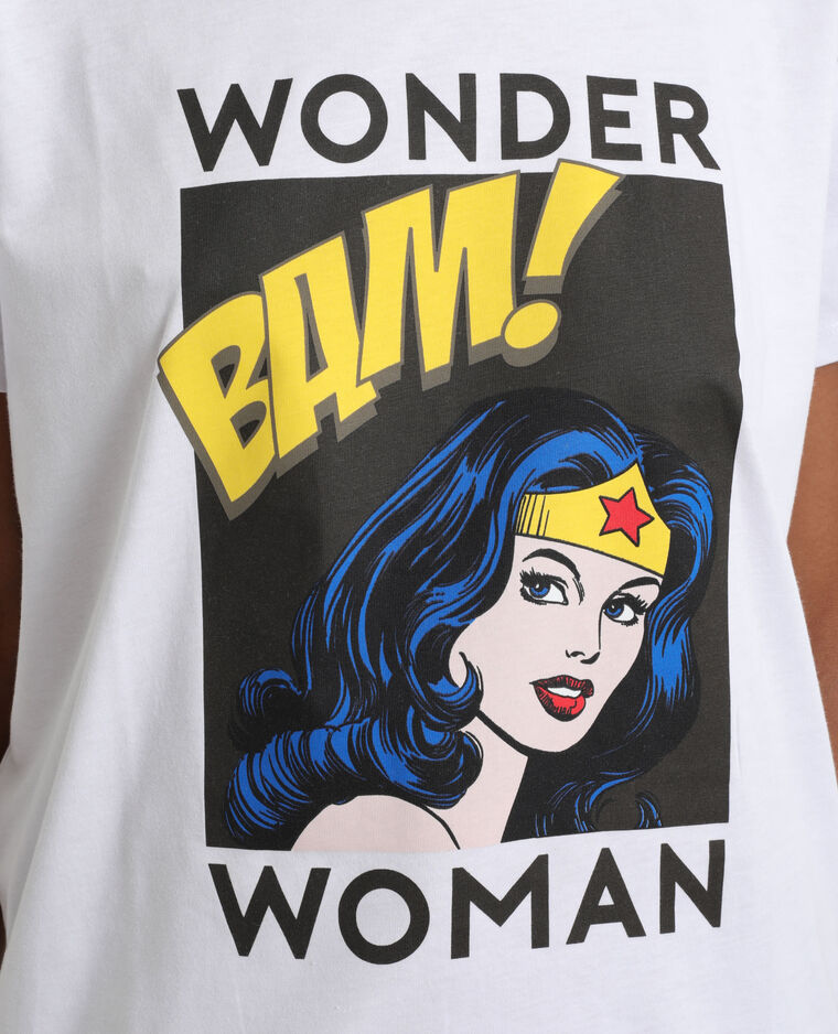 T-shirt Wonder Woman blanc