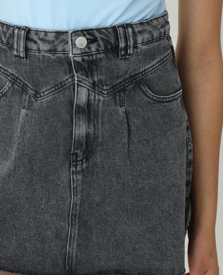 Jupe en jean gris usé - Pimkie