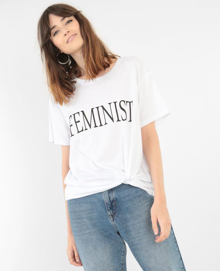"T-shirt ""Feminist"" collection limitée blanc"