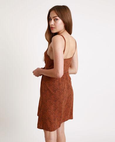 Robe nouée poitrine marron