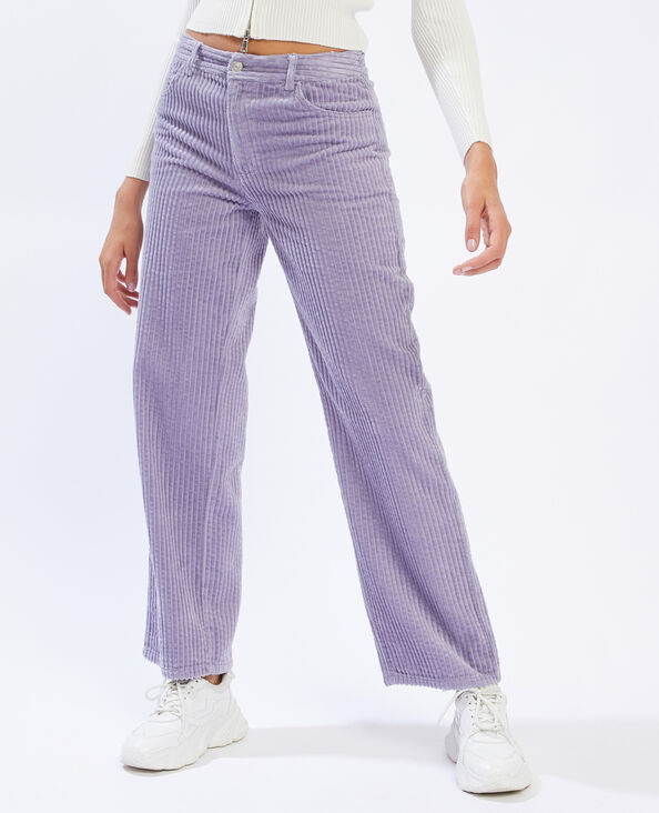 Pantalon velours grosses côtes violet - Pimkie