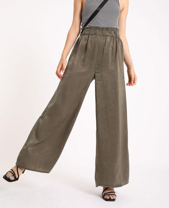 Pantalon large kaki - Pimkie