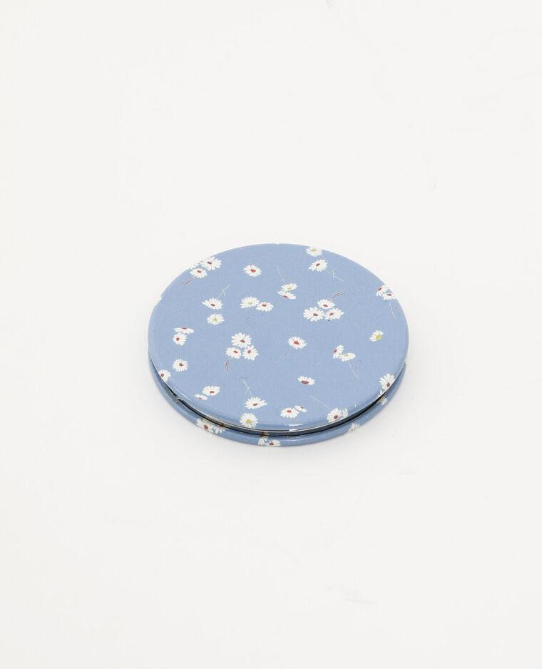 Miroir de poche bleu