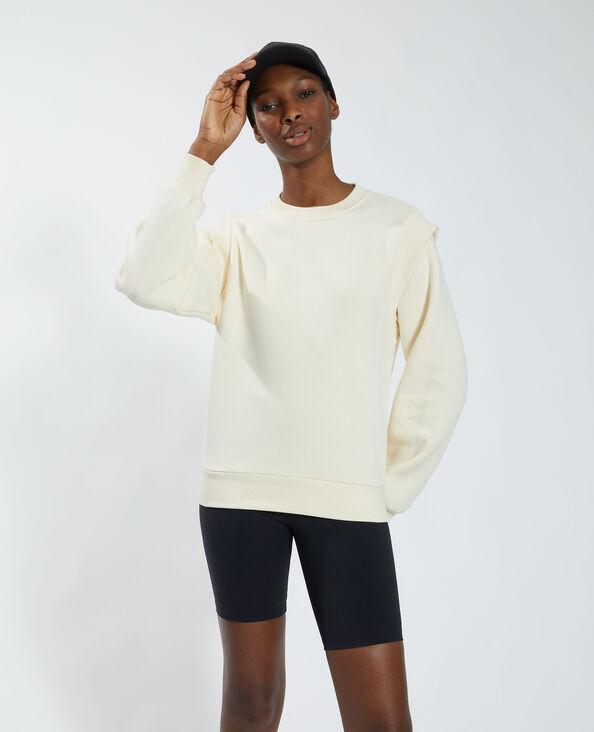 Sweat molletonné blanc - Pimkie