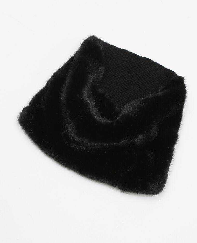 11952d7c1aaf Snood fausse fourrure noir  Snood fausse fourrure noir