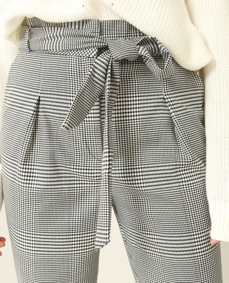 Pantalon carotte imprimé blanc