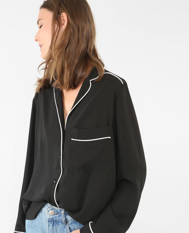 Chemise pyjama noir