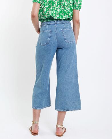 Jean wide leg bleu délavé - Pimkie