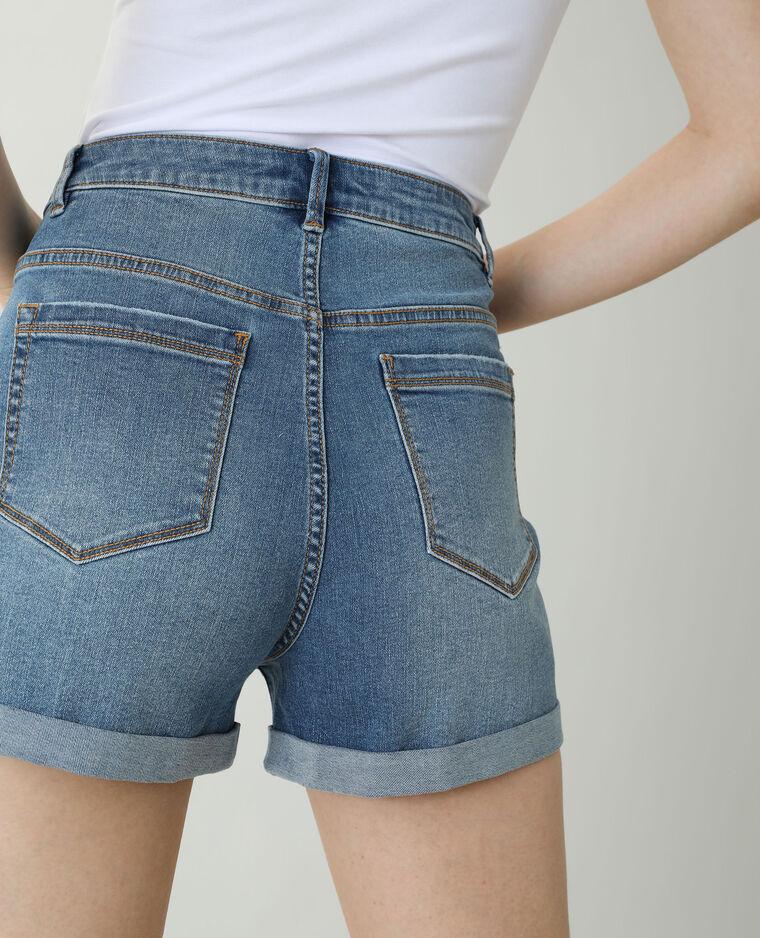Short en jean high waist bleu denim - Pimkie