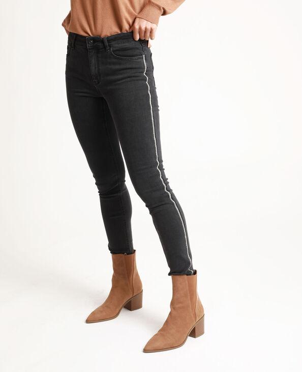 Jean skinny à strass noir
