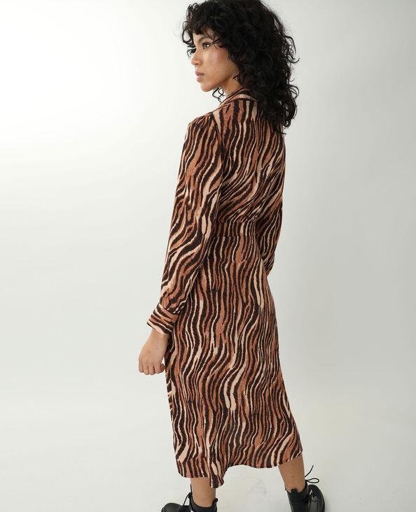 Robe longue à imprimé tigré marron - Pimkie