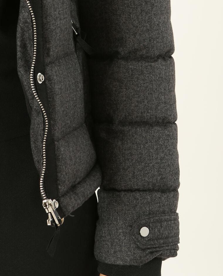 Doudoune à capuche gris