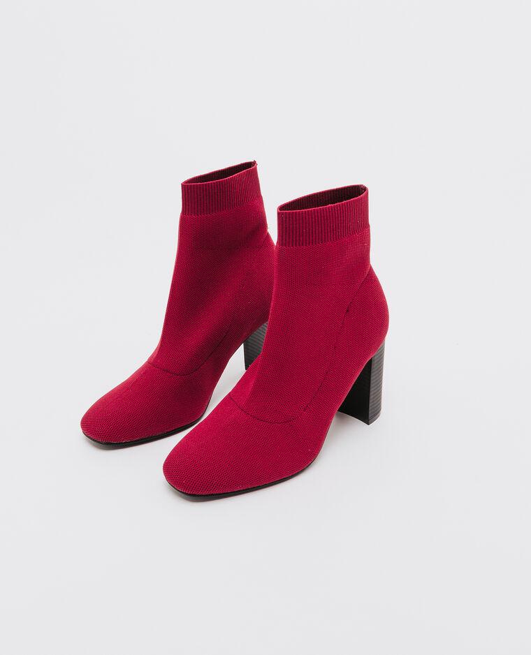 Boots élastiquées à talons brique