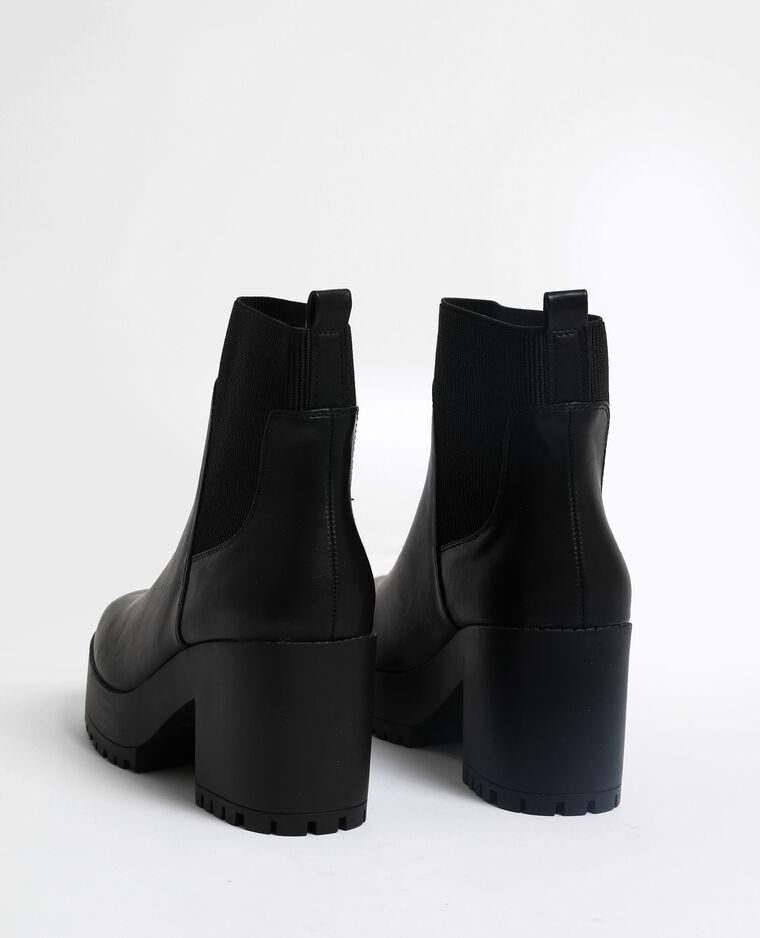 Bottines à semelles crantées noir