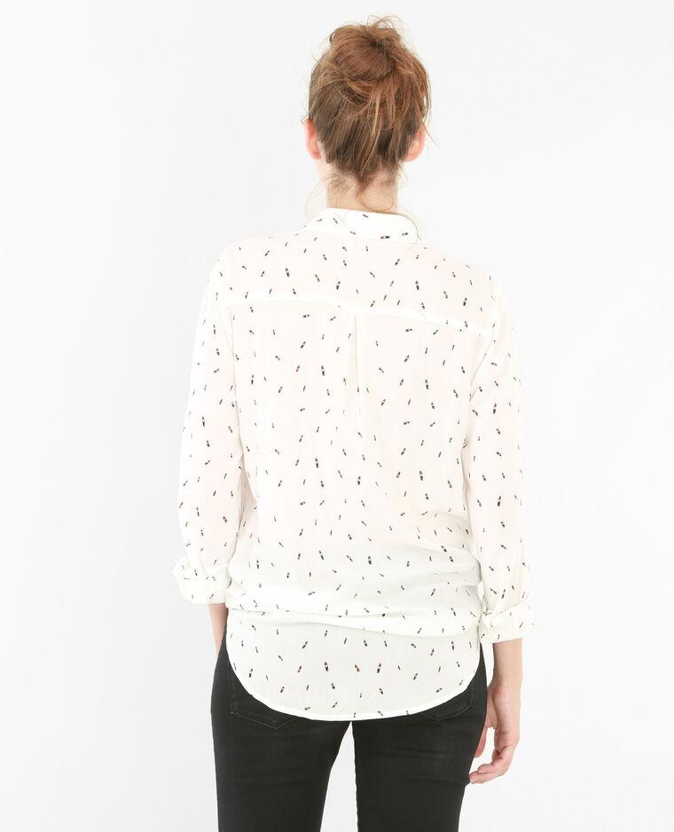 Chemise imprimée blanc cassé
