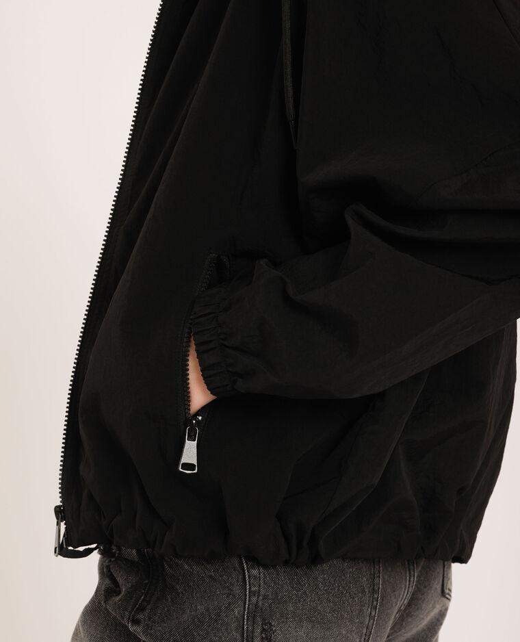 Coupe vent à capuche noir - Pimkie