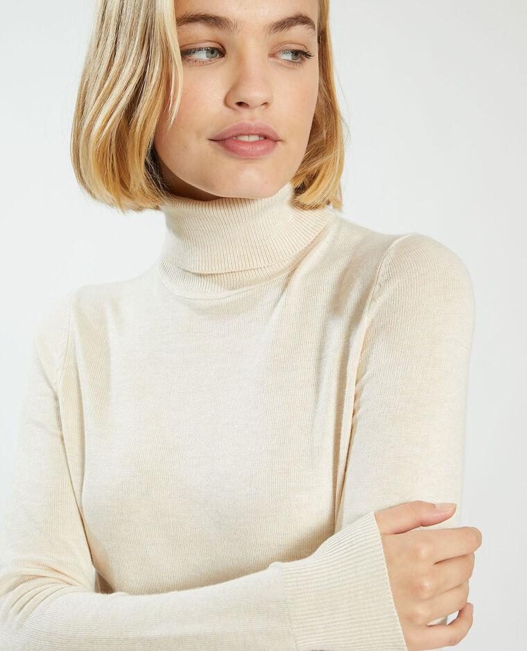 T-shirt côtelé beige ficelle - Pimkie