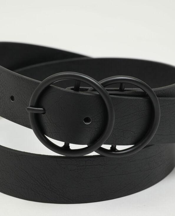 Ceinture en simili cuir avec double boucle noir - Pimkie