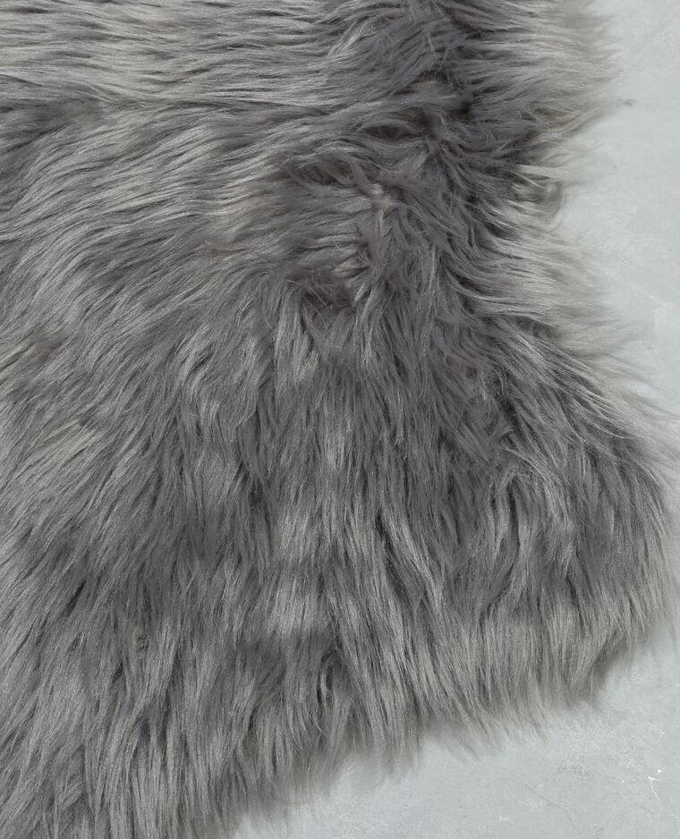 Tapis fausse fourrure gris anthracite - 955094824A08 | Pimkie