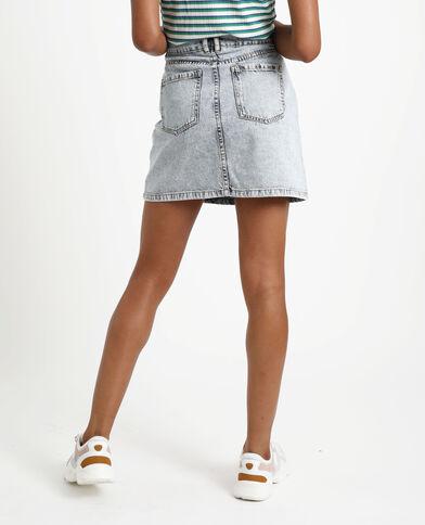 Jupe en jean délavé bleu - Pimkie