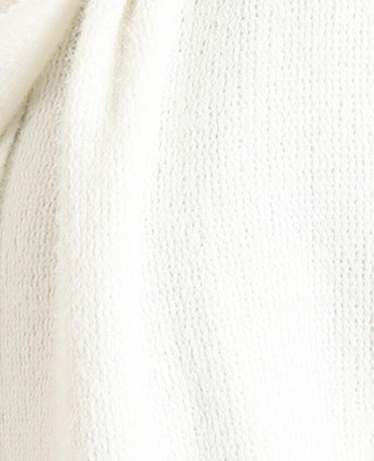 Echarpe à franges blanc