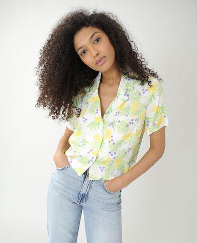 Chemise ample à citrons blanc