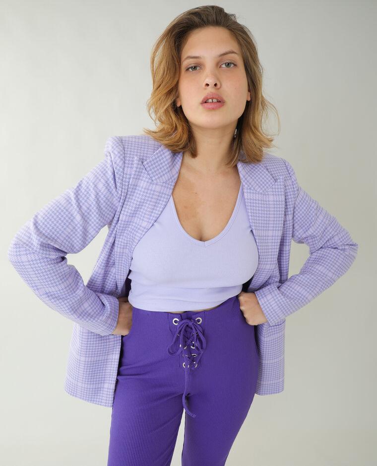 Pantalon flare côtelé violet - Pimkie