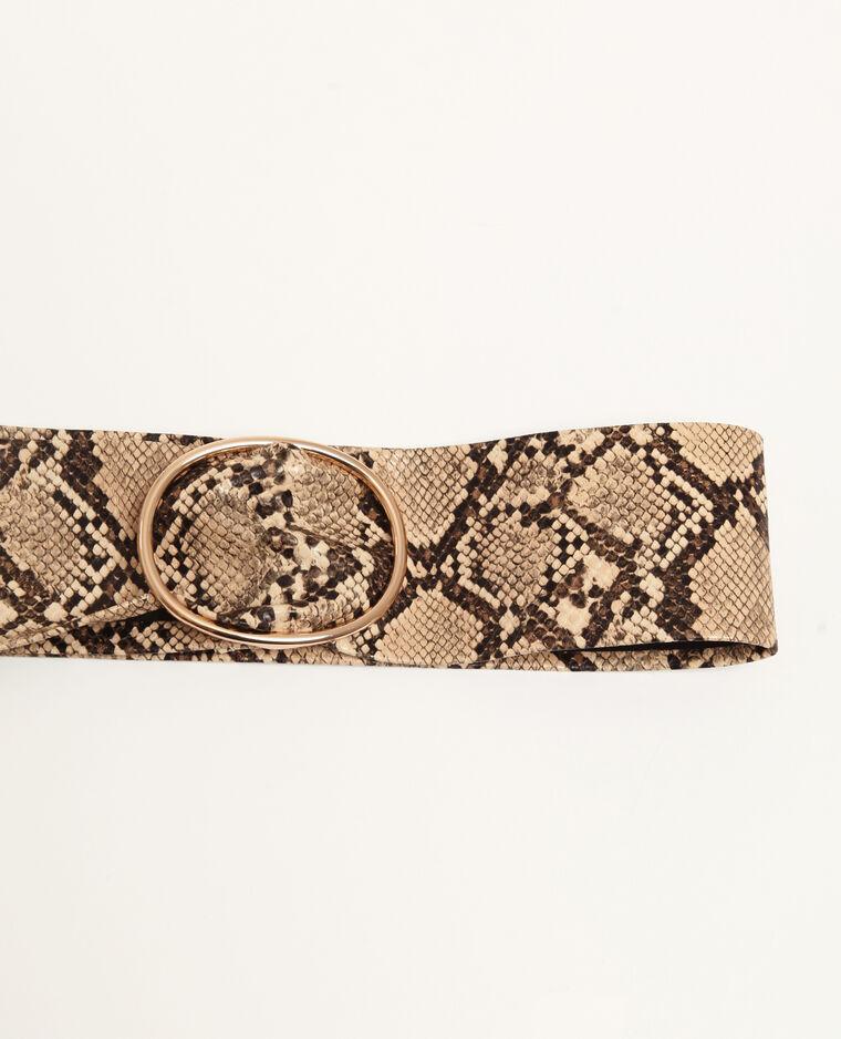 Ceinture effet python beige
