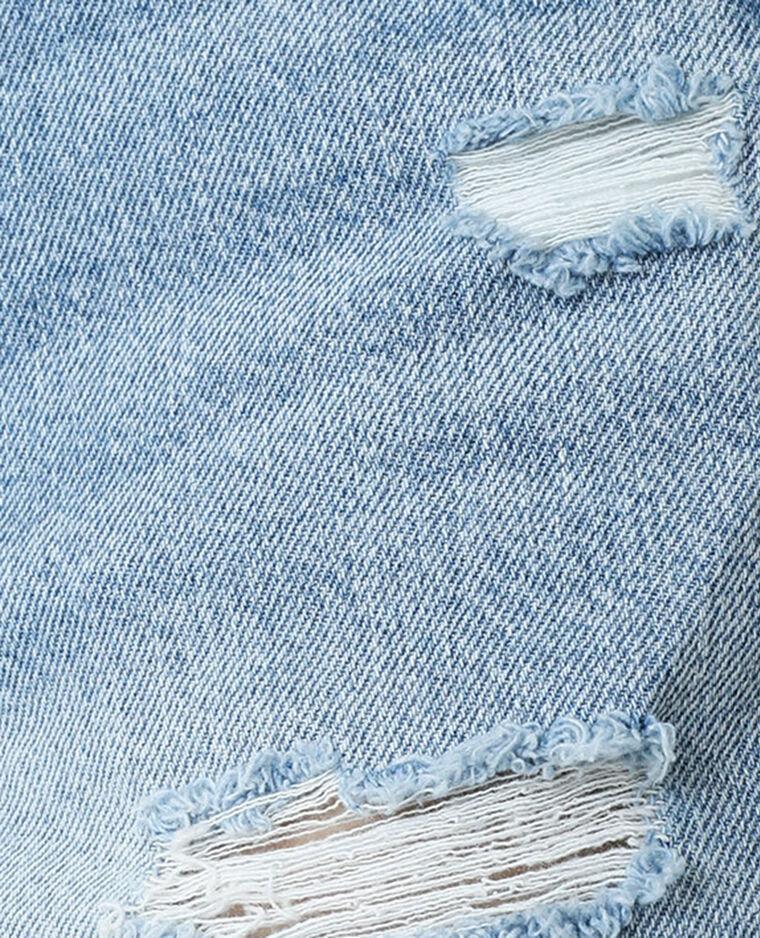 Short en jean high waist bleu clair - Pimkie