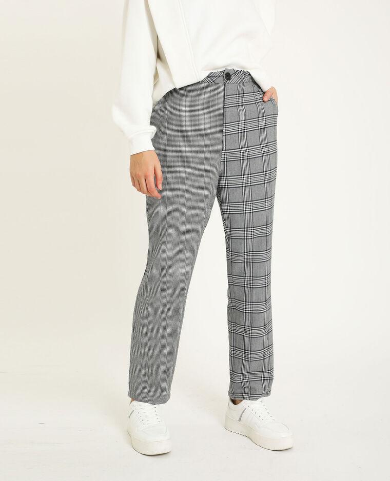 Pantalon à carreaux noir - Pimkie