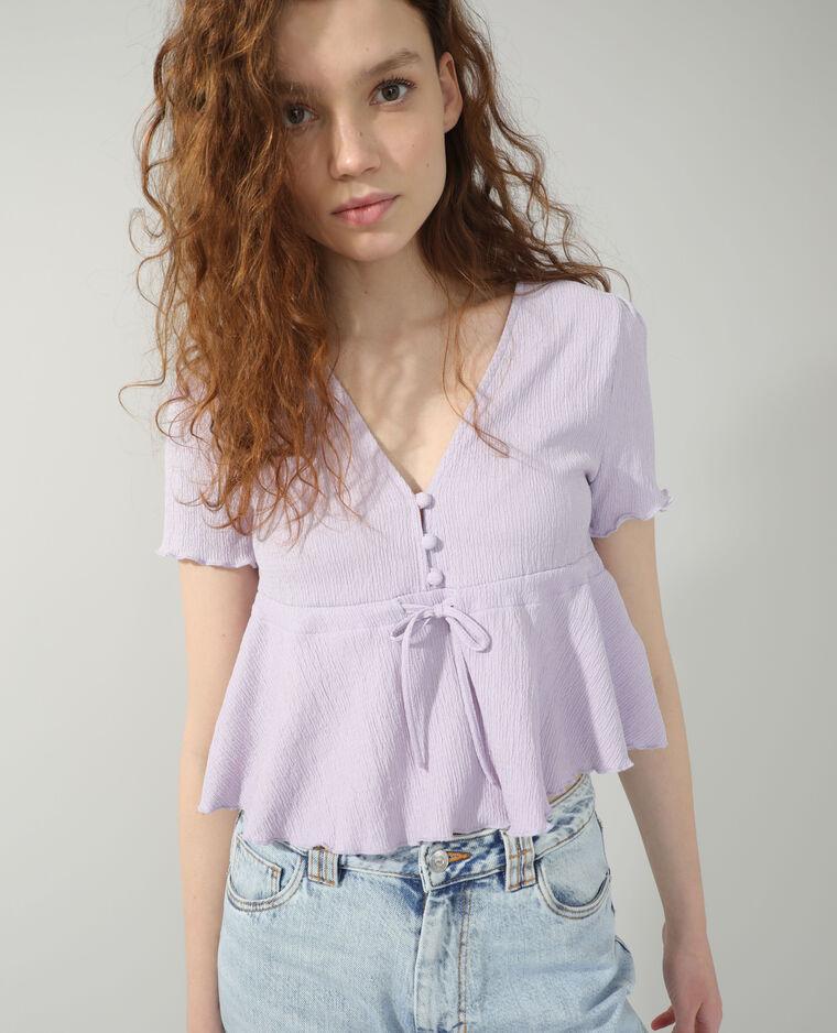 T-shirt volanté violet - Pimkie