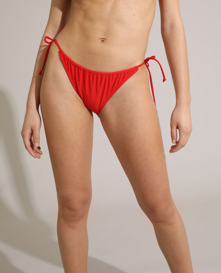 Bas de maillot culotte transformable rouge
