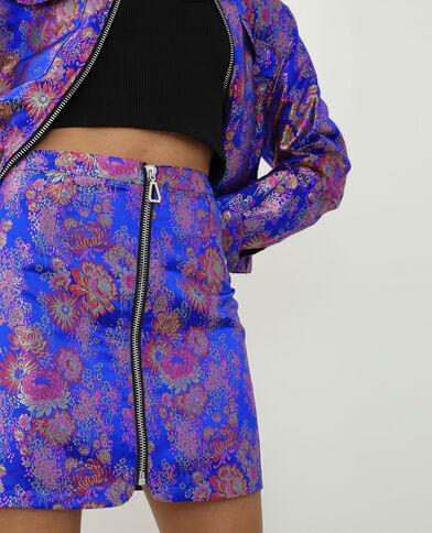 Jupe esprit Asie bleu