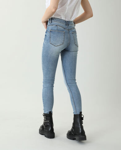 Jean skinny push up mid waist bleu denim