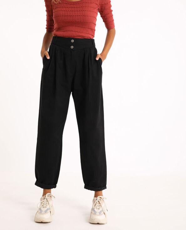 Pantalon slouchy noir