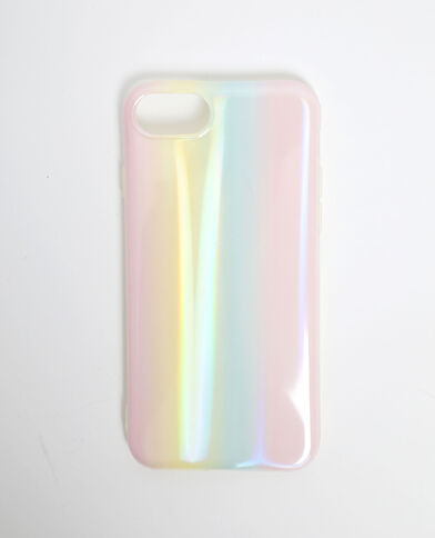 Coque hologamme compatible iPhone rose