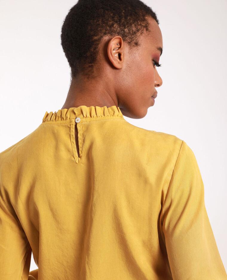 Blouse volantée jaune moutarde - Pimkie