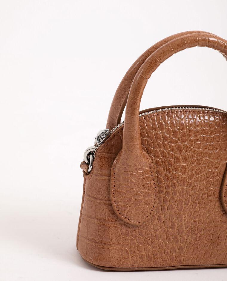 Mini sac à main beige