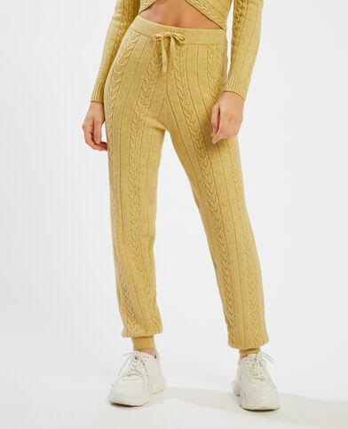 Pantalon en maille torsadée camel - Pimkie