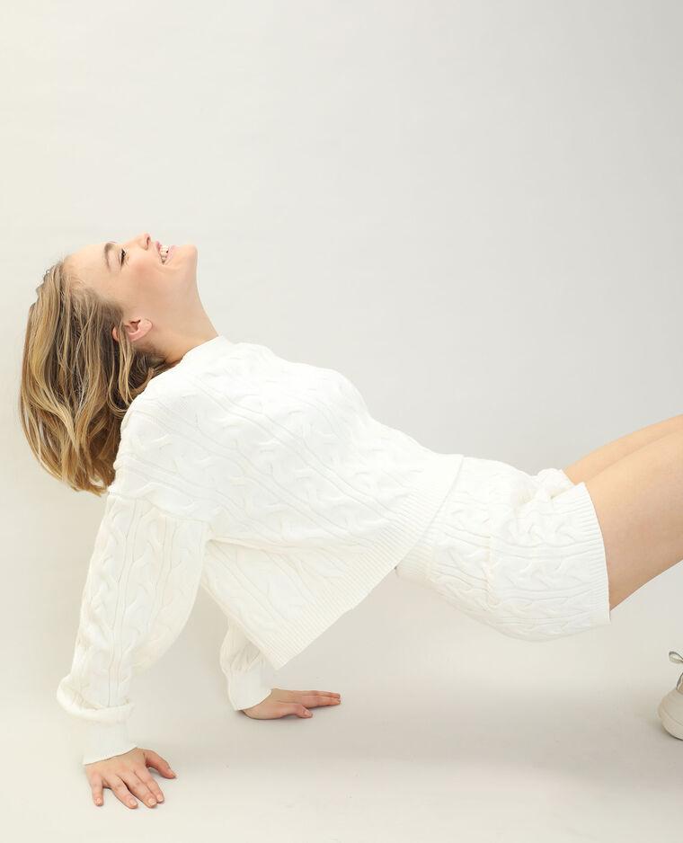 Short torsadé blanc cassé - Pimkie