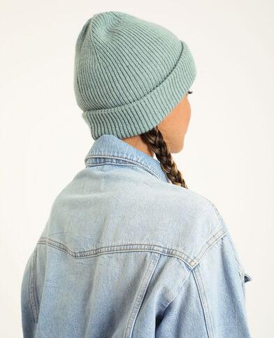 Bonnet avec revers vert