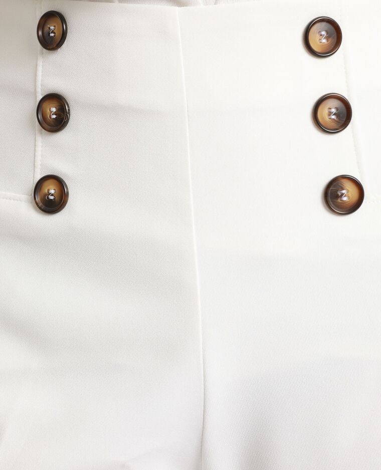 Pantalon à boutons écru