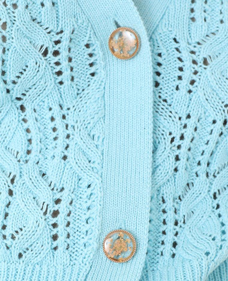 Gilet vintage bleu aqua - Pimkie