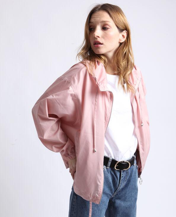 Coupe-vent à capuche rose