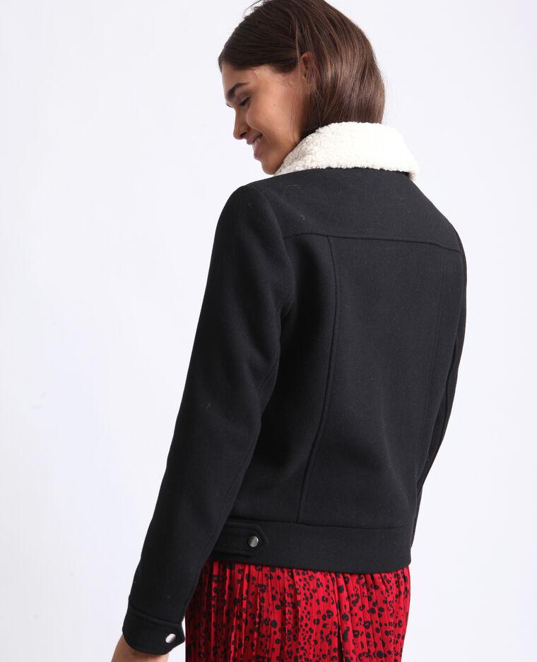 Blouson en laine noir