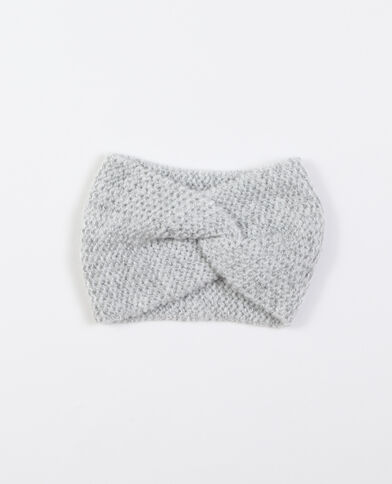 Headband twisté gris perle