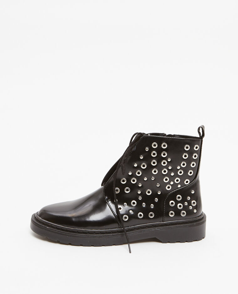 Boots rangers à rivets noir - Pimkie