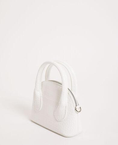 Petit sac à main blanc cassé